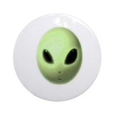 Jmcks Alien Head Ornament (Round)