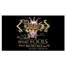 Shakespeare Fools Quote Wall Art Poster