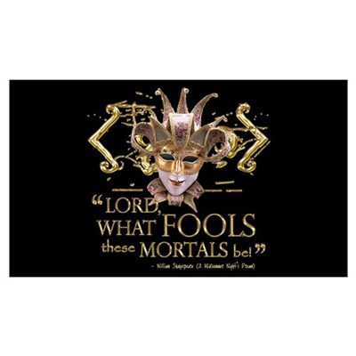 Shakespeare Fools Quote Wall Art Canvas Art