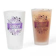 Crystal Violet Dancer Wreath Drinking Glass