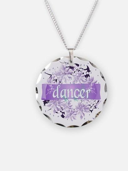 Crystal Violet Dancer Wreath Necklace