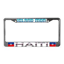 Cute Haiti License Plate Frame