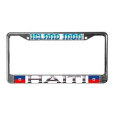 Cool Haiti License Plate Frame