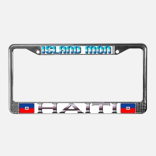 Cute Island gyal License Plate Frame