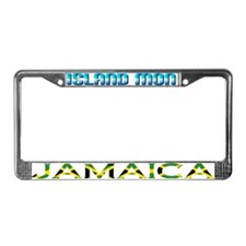 Unique Jamaican girl License Plate Frame