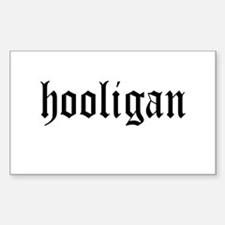 HOOLIGAN Rectangle Decal