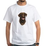 Chocolate Labrador Retriever White T-Shirt