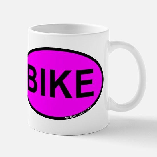 Pink BIKE Oval Mug