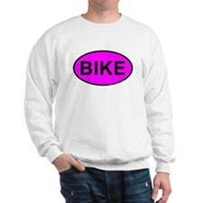 Pink BIKE Oval Sweatshirt