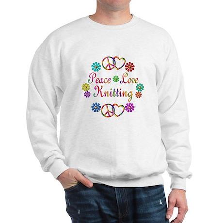 Peace Love Knitting Sweatshirt