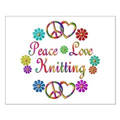 Peace Love Knitting Posters