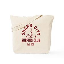 Vintage Shark City Surfing Club Tote Bag