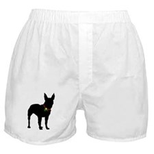 Christmas or Holiday Bullterrier Silhouette Boxer