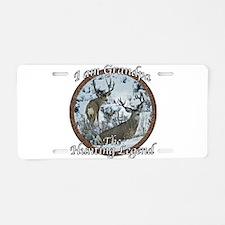 Grandpa hunting legend Aluminum License Plate