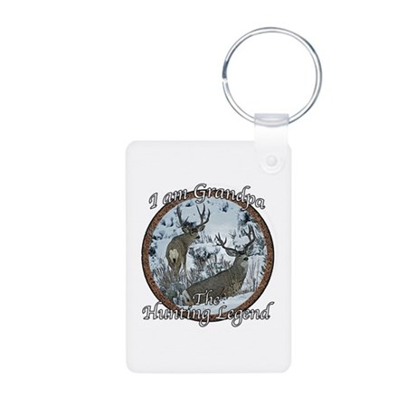 Grandpa hunting legend Aluminum Photo Keychain