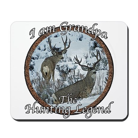 Grandpa hunting legend Mousepad