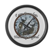 Grandpa hunting legend Large Wall Clock