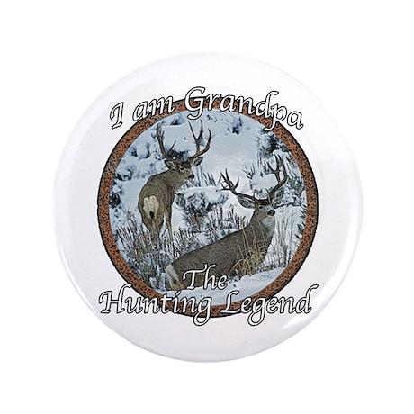 """Grandpa hunting legend 3.5"""" Button"""