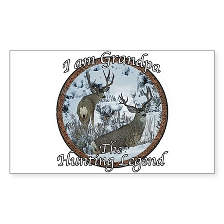 Grandpa hunting legend Sticker (Rectangle)
