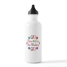 Love Ice Skating Water Bottle