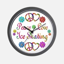 Love Ice Skating Wall Clock