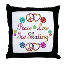 Love Ice Skating Throw Pillow