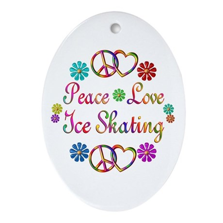 Love Ice Skating Ornament (Oval)