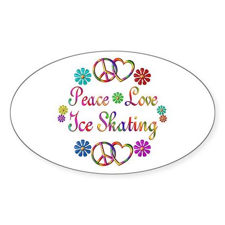 Love Ice Skating Sticker (Oval)