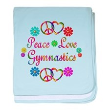 Peace Love Gymnastics baby blanket