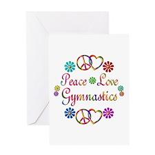 Peace Love Gymnastics Greeting Card
