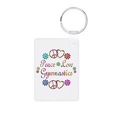 Peace Love Gymnastics Keychains