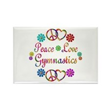 Peace Love Gymnastics Rectangle Magnet