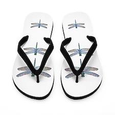 dragonflies on white Flip Flops