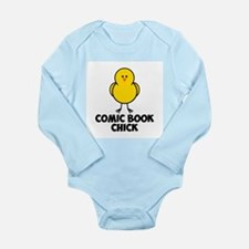 Comic Book Chick Long Sleeve Infant Bodysuit