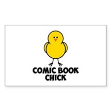Comic Book Chick Decal