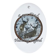 Dad hunting legend Ornament (Oval)