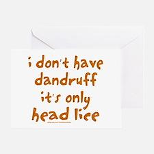 DANDRUFF/HEAD LICE Greeting Card