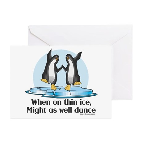 When On Tin Ice Greeting Cards (Pk of 20)