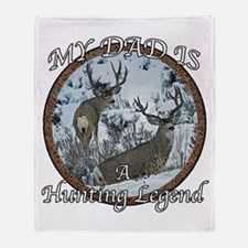 Dad the hunting legend Throw Blanket