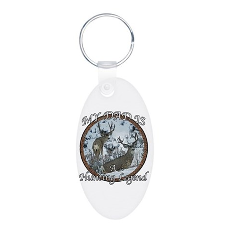 Dad the hunting legend Aluminum Oval Keychain