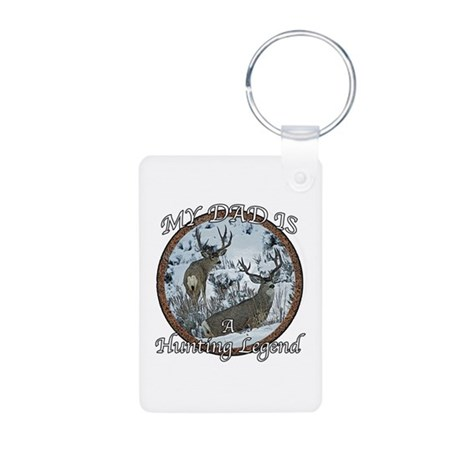 Dad the hunting legend Aluminum Photo Keychain