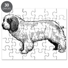 Clumber Spaniel Black and Whi Puzzle