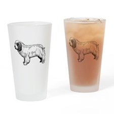 Clumber Spaniel Black and Whi Drinking Glass
