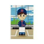 Cute Baseball Boy Magnet (10 Pk)