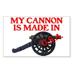 MY CANNON IS MADE IN U.S.A.™ Decal