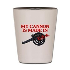 MY CANNON IS MADE IN U.S.A.™ Shot Glass