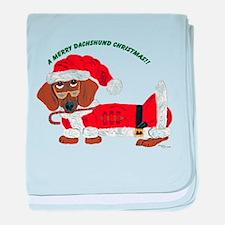 A Merry Dachshund Christmas Candy Cane Santa baby