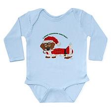 A Merry Dachshund Christmas Candy Cane Santa Long