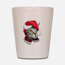 Cute Santa Cat Shot Glass