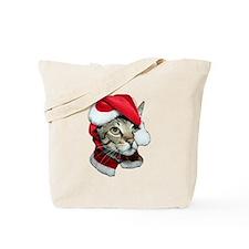 Cute Santa Cat Tote Bag